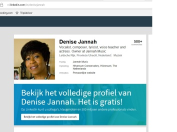 Denise Jannah music LinkedIn