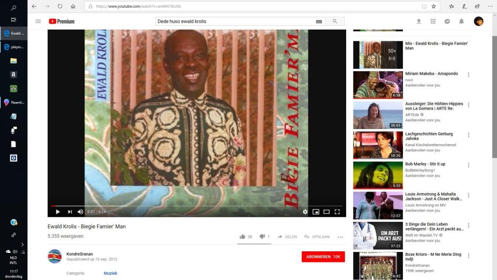 Ewald Krolis, Bigi Famiriman, Rita Ajadeen 23dec1955-29dec2018.